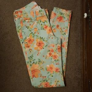 Candie's Floral Jeans